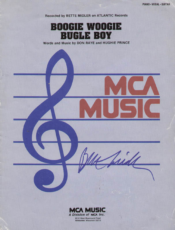 Image 1 for Bette Midler - Sheet Music Signed - HFSID 300405