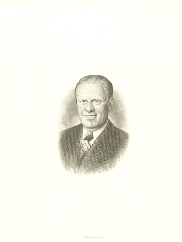 Image 1 for President Gerald R. Ford - Engraving Unsigned - HFSID 3004057