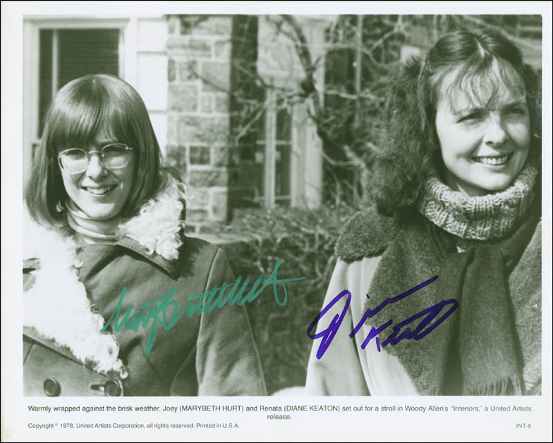 Image 1 for Interiors Movie Cast - Printed Photograph Signed In Ink co-signed by: Mary Beth Hurt, Diane Keaton - HFSID 300425
