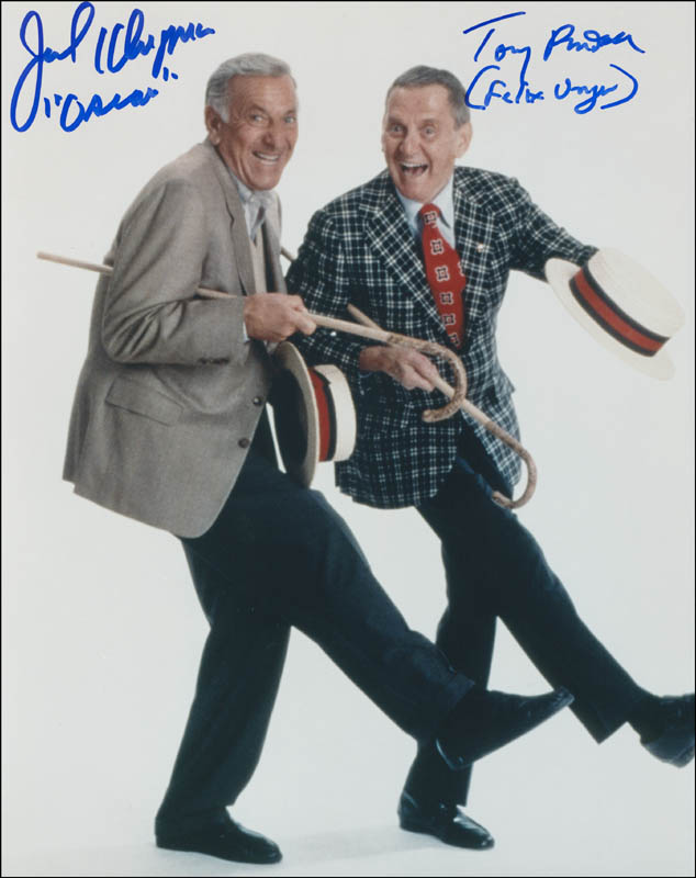 Image 1 for The Odd Couple TV Cast - Autographed Signed Photograph co-signed by: Jack Klugman, Tony Randall - HFSID 300442