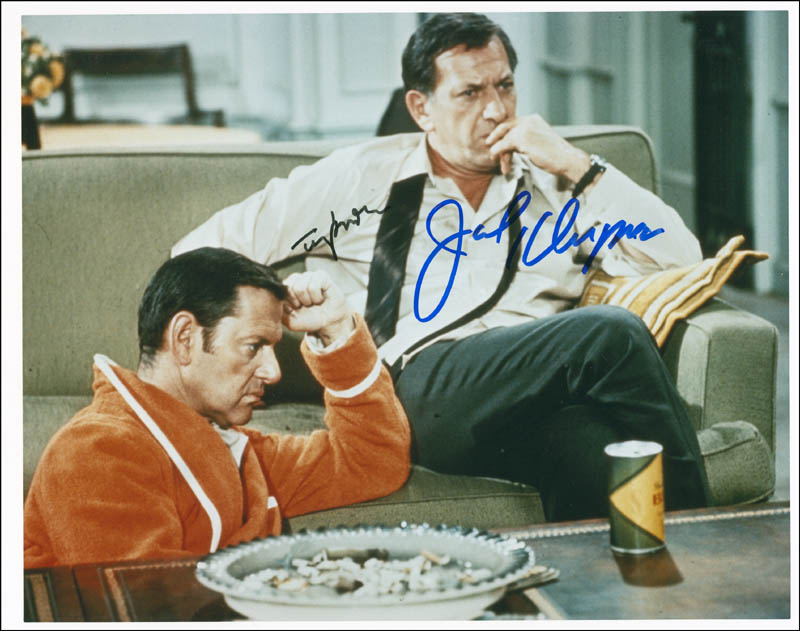 Image 1 for The Odd Couple TV Cast - Autographed Signed Photograph co-signed by: Jack Klugman, Tony Randall - HFSID 300447