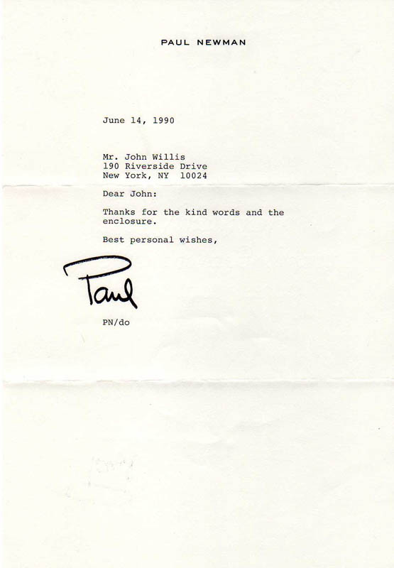 Image 1 for Paul Newman - Typed Letter Signed 06/14/1990 - HFSID 300515