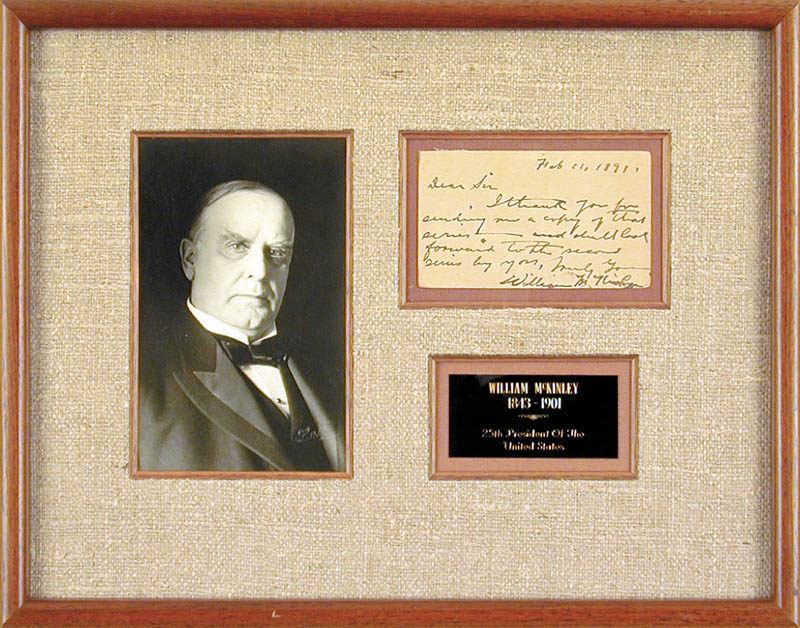Image 1 for President William Mckinley - Autograph Letter Signed 02/11/1891 - HFSID 30059