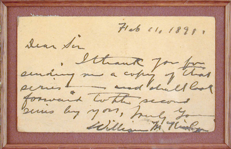 Image 3 for President William Mckinley - Autograph Letter Signed 02/11/1891 - HFSID 30059