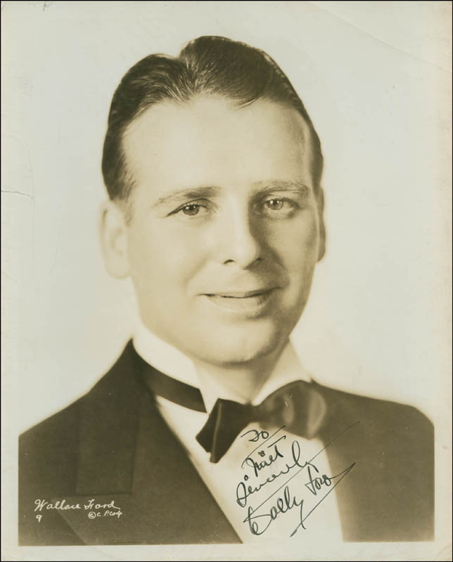 Image 1 for Wallace 'Wally' Ford - Autographed Inscribed Photograph - HFSID 301280
