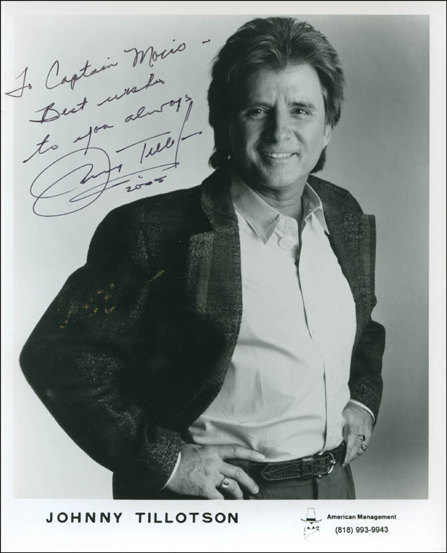 Image 1 for Johnny Tillotson - Inscribed Printed Photograph Signed In Ink 2005 - HFSID 301287