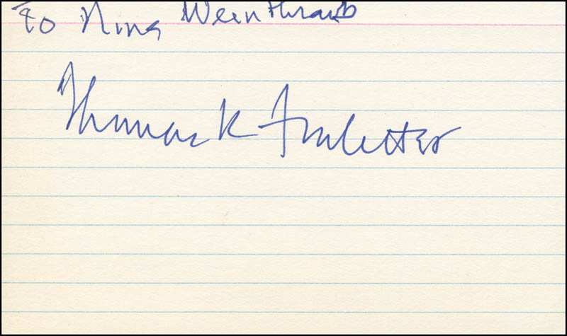 Image 1 for Thomas K. Finletter - Inscribed Signature - HFSID 301422