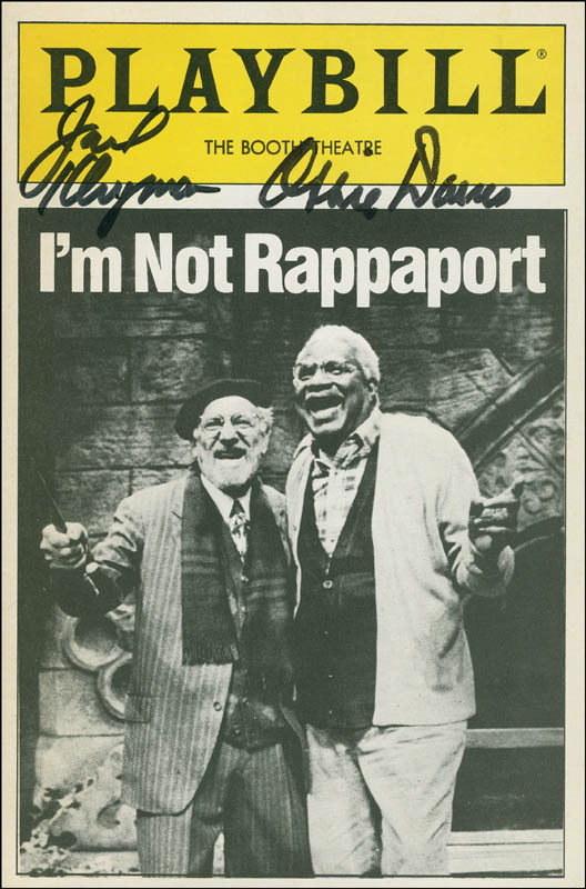 Image 1 for I'M Not Rappaport Play Cast - Show Bill Signed co-signed by: Jack Klugman, Ossie Davis - HFSID 301430