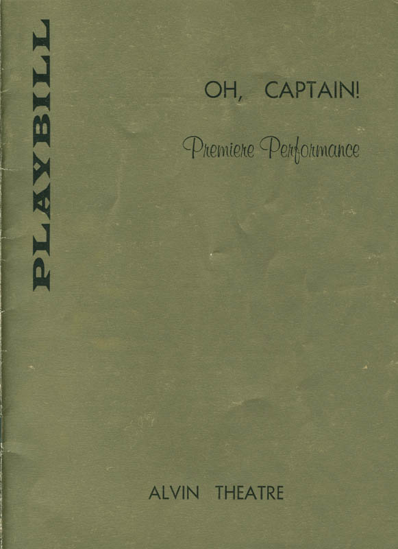 Image 3 for Oh, Captain! Play Cast - Show Bill Signed co-signed by: Alexandra Danilova, Jose Ferrer, Tony Randall - HFSID 301520