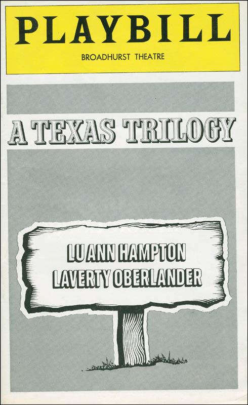 Image 3 for A Texas Trilogy Play Cast - Show Bill Signed with co-signers - HFSID 301530