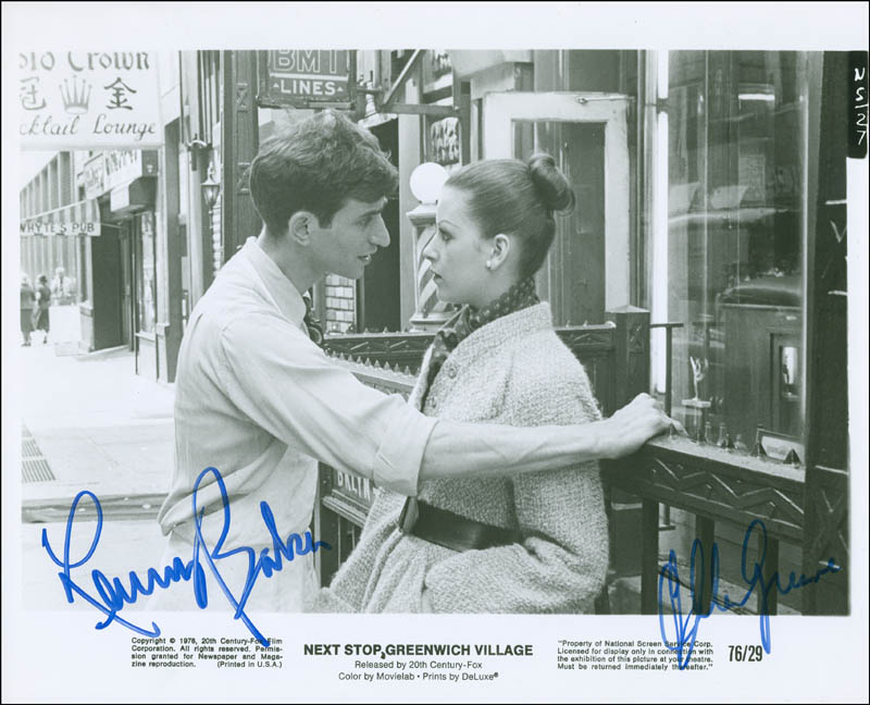 Image 1 for Next Stop Greenwich Village Movie Cast - Autographed Signed Photograph co-signed by: Ellen Greene, Lenny Baker - HFSID 301533