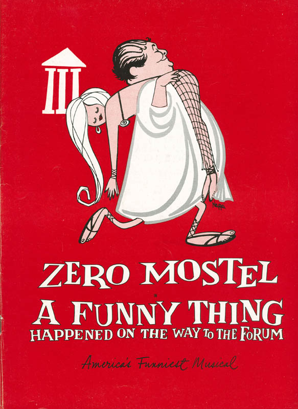 Image 3 for A Funny Thing Happened On The Way To The Forum Play Cast - Program Signed co-signed by: Jack Gilford, Zero Mostel, Brian Davies - HFSID 301549