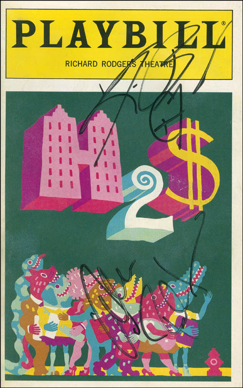 Image 1 for Alec Baldwin - Show Bill Signed co-signed by: Kim Basinger - HFSID 301566