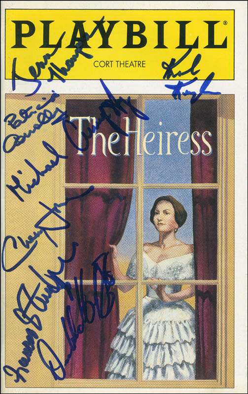Image 1 for The Heiress Play Cast - Show Bill Signed with co-signers - HFSID 301662