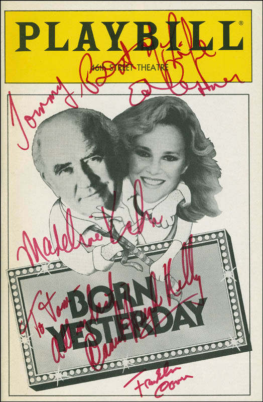 Image 1 for Born Yesterday Play Cast - Inscribed Show Bill Signed co-signed by: Daniel Hugh Kelly, Ed Asner, Franklin Cover, Madeline Kahn - HFSID 301663