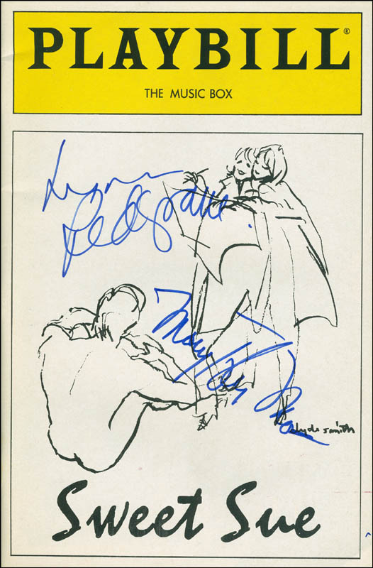 Image 1 for Sweet Sue Play Cast - Show Bill Cover Signed co-signed by: Mary Tyler Moore, Lynn Redgrave - HFSID 301706