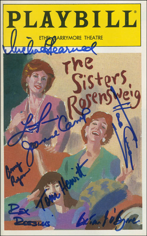 Image 1 for The Sisters Rosensweig Play Cast - Show Bill Signed with co-signers - HFSID 301717