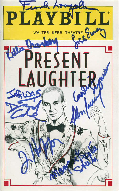 Image 1 for Present Laughter Play Cast - Show Bill Signed with co-signers - HFSID 301722