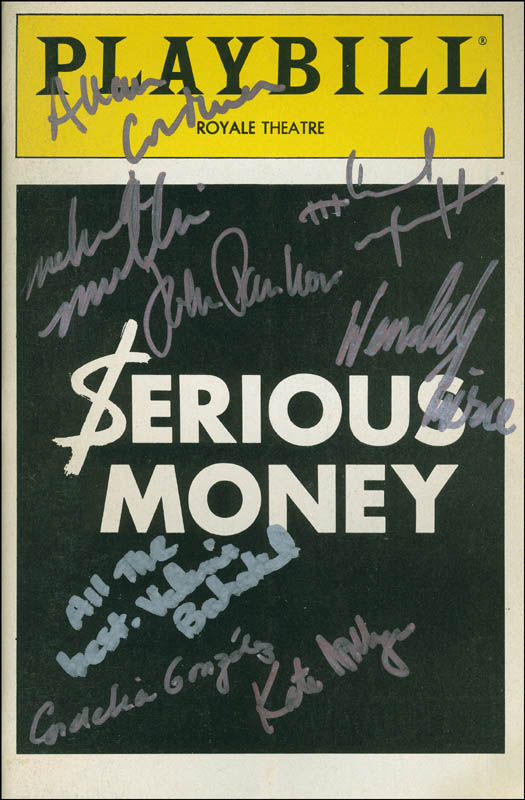 Image 1 for Serious Money Play Cast - Show Bill Signed with co-signers - HFSID 301727
