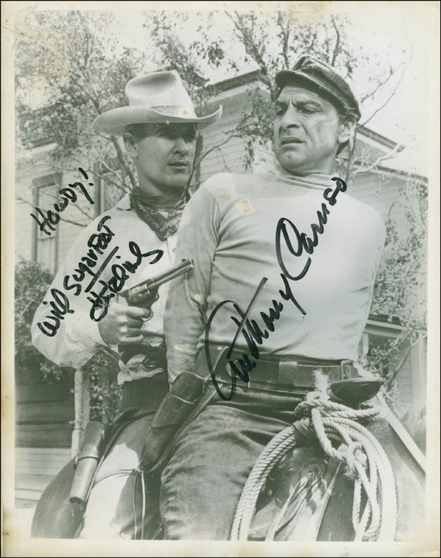 Image 1 for Sugarfoot TV Cast - Autographed Signed Photograph co-signed by: Will 'Sugarfoot' Hutchins, Anthony Caruso - HFSID 301920