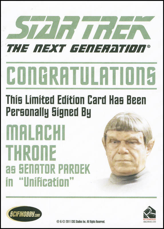 Image 3 for Malachi Throne - Trading/Sports Card Signed - HFSID 302527