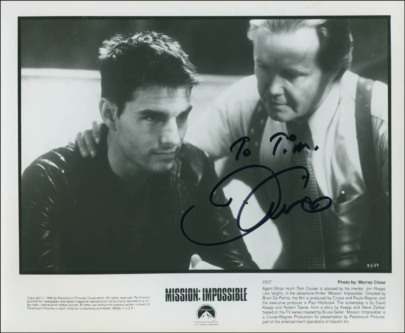 Image 1 for Tom Cruise - Autographed Inscribed Photograph - HFSID 302646
