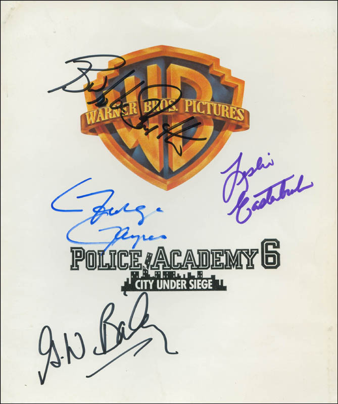 Image 1 for Police Academy 6: City Under Siege Movie Cast - Autographed Signed Photograph with co-signers - HFSID 302648