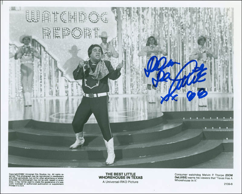 Image 1 for Dom Deluise - Autographed Signed Photograph 1988 - HFSID 302694