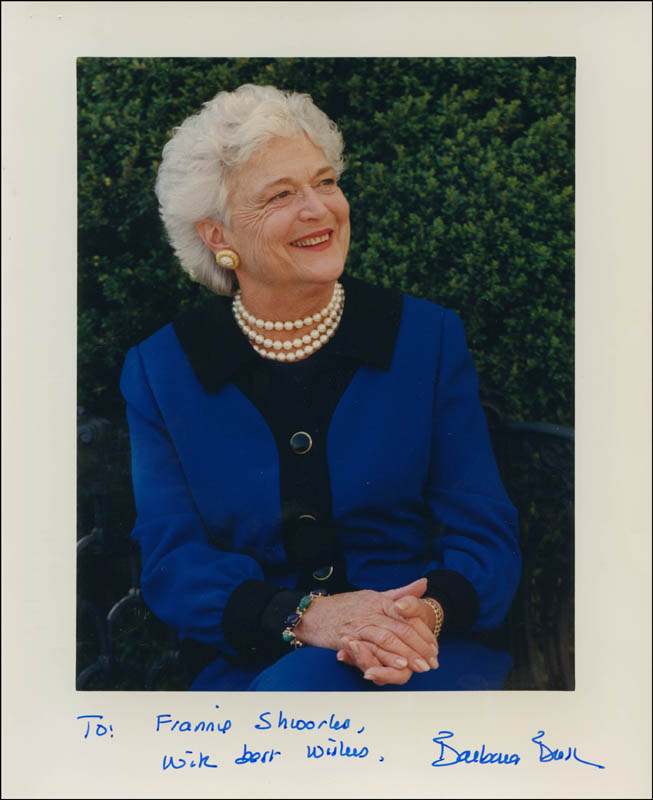 Image 1 for First Lady Barbara Bush - Autographed Inscribed Photograph - HFSID 303062
