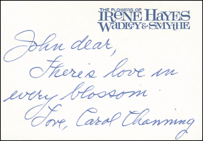 Image 1 for Carol Channing - Autograph Note Signed - HFSID 303078