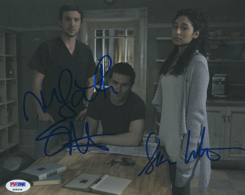 Image 1 for Being Human TV Cast - Autographed Signed Photograph co-signed by: Sam Huntington, Sam Witwer, Meaghan Rath - HFSID 303286