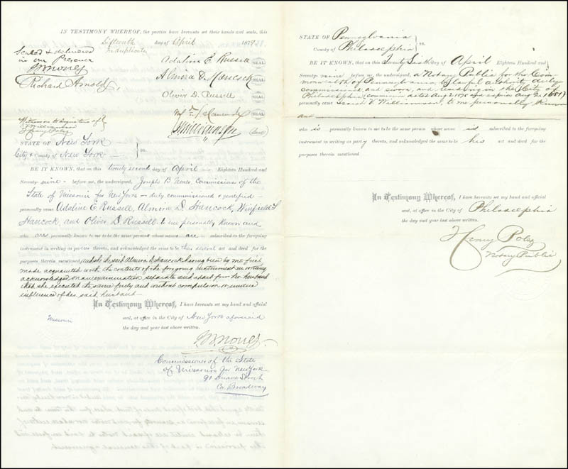Image 3 for Major General Winfield Scott Hancock - Document Signed 04/26/1879 with co-signers - HFSID 30345