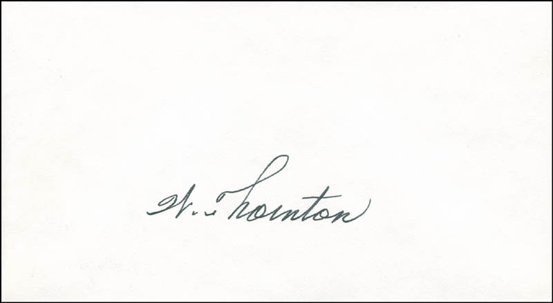 Image 1 for William E. Thornton - Autograph - HFSID 303537