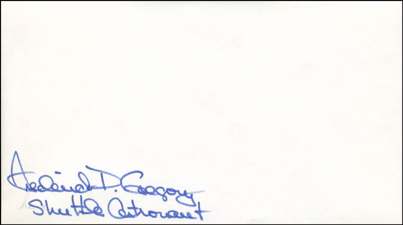 Image 1 for Colonel Frederick D. Gregory - Envelope Signed - HFSID 303539