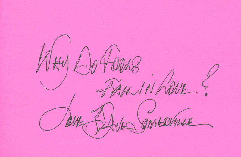 Image 1 for The Diamonds (Dave Somerville) - Autograph Quotation Signed - HFSID 303683