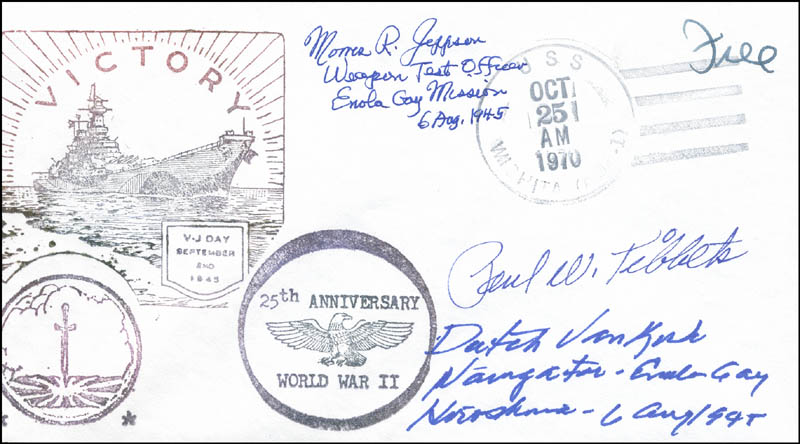 Image 1 for Enola Gay Crew (Paul W. Tibbets) - Commemorative Envelope Signed with co-signers - HFSID 303872