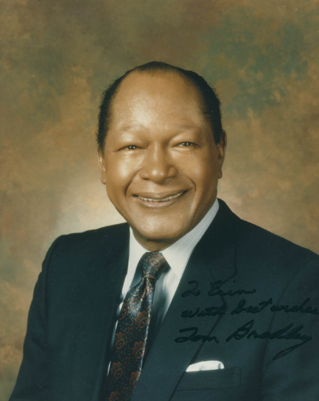 Image 1 for Mayor Tom Bradley - Autographed Inscribed Photograph - HFSID 303992