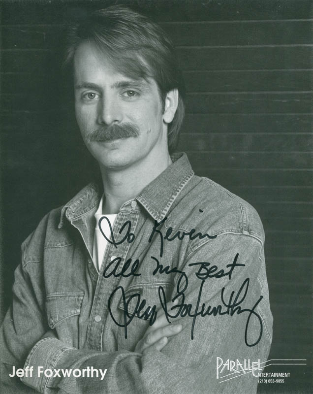 Image 1 for Jeff Foxworthy - Autographed Inscribed Photograph - HFSID 304016