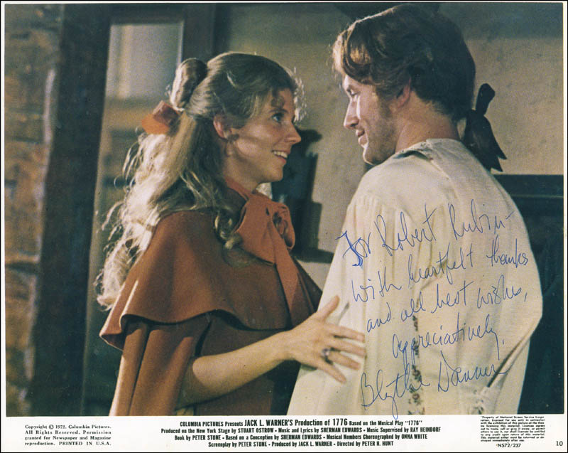 Image 1 for Blythe Danner - Autographed Inscribed Photograph - HFSID 304396