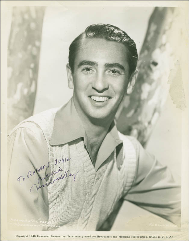 Image 1 for Macdonald Carey - Autographed Inscribed Photograph - HFSID 304398