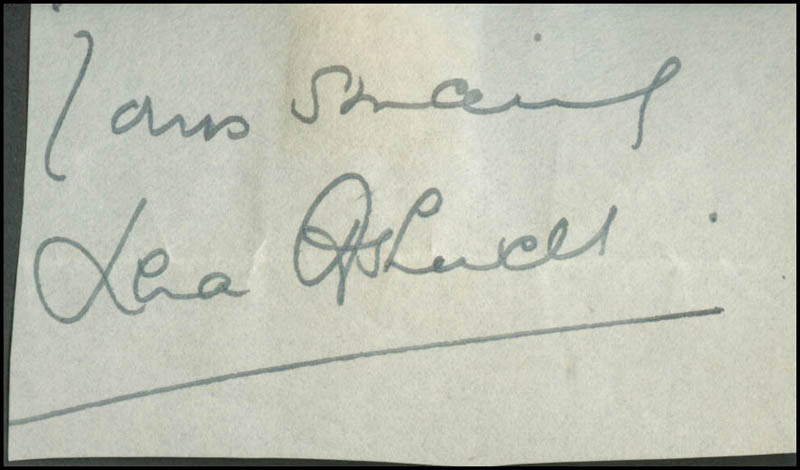 Image 1 for Lena Ashwell - Autograph Sentiment Signed - HFSID 304459