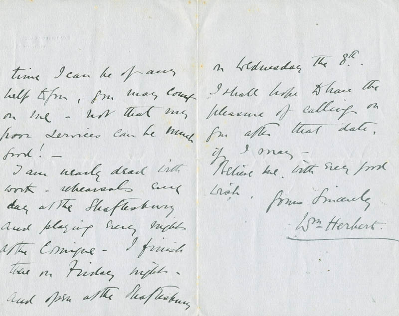 Image 1 for William Herbert - Autograph Letter Signed - HFSID 304514