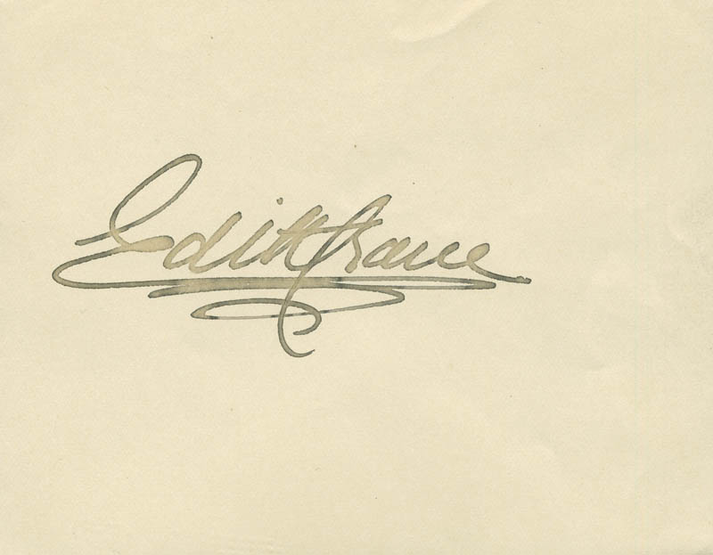 Image 1 for Edith Crane - Autograph - HFSID 304580