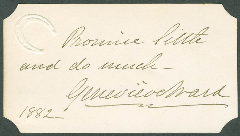 Image 1 for Dame Genevieve Ward - Autograph Quotation Signed 1882 - HFSID 304747