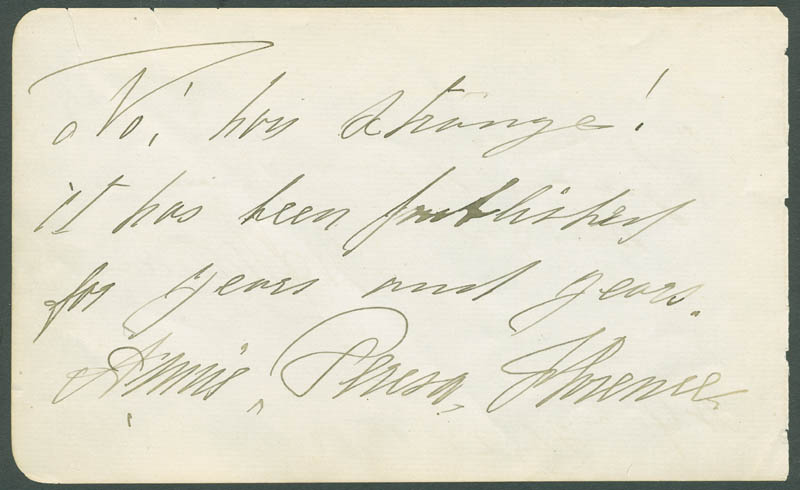 Image 3 for William J. Florence - Autograph Quotation Signed 02/23/1885 co-signed by: Malvina Pray Florence - HFSID 304799