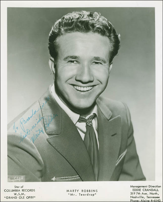 Image 1 for Marty Robbins - Autographed Inscribed Photograph - HFSID 304809