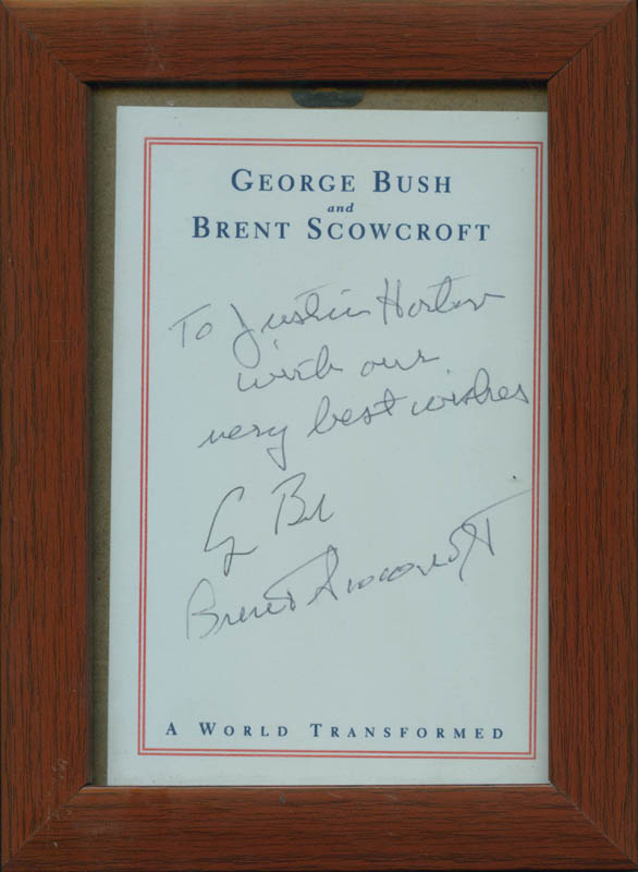 Image 1 for President George H.W. Bush - Autograph Note Signed co-signed by: Brent Scowcroft - HFSID 304890
