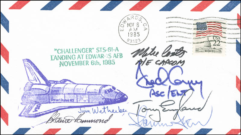 Image 1 for Captain Michael L. Coats - Commemorative Envelope Signed with co-signers - HFSID 304921