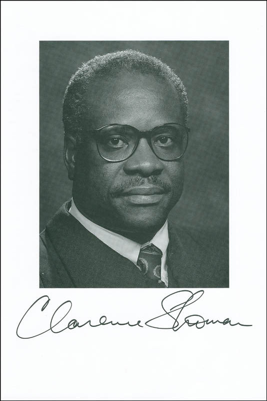 Image 1 for Associate Justice Clarence Thomas - Autographed Signed Photograph - HFSID 304990
