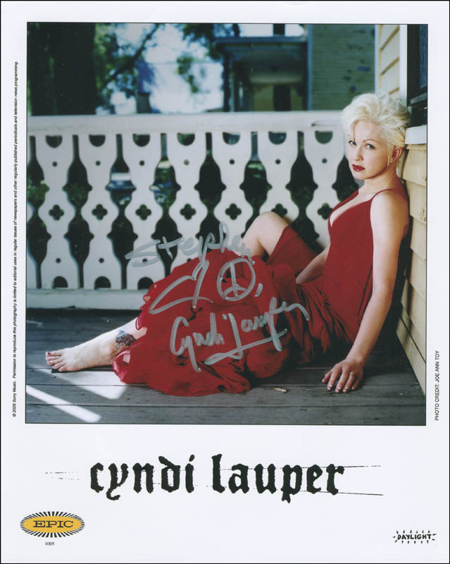 Image 1 for Cyndi Lauper - Inscribed Printed Photograph Signed In Ink - HFSID 305197